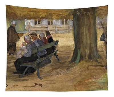 People Sitting On A Bench In Bezuidenhout. The Hague Tapestry