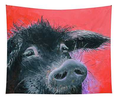 Percival The Black Pig Tapestry