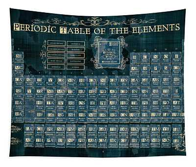 Periodic Table Of The Elements Vintage 4 Tapestry