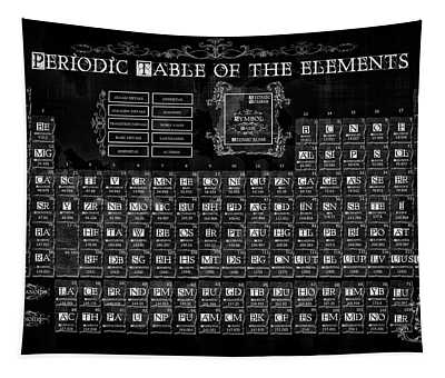 Periodic Table Of The Elements Vintage Tapestry