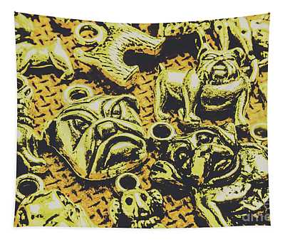 Pet Pendant Dogs Tapestry
