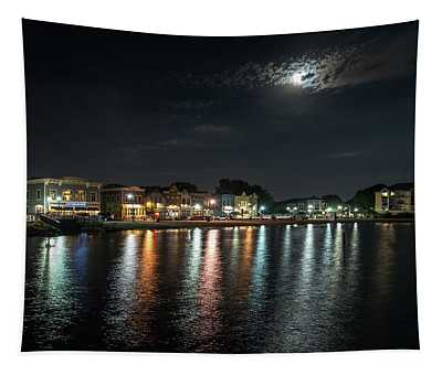 Pewaukee At Night Tapestry