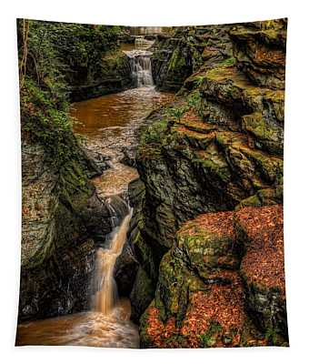 Pewits Nest Three Waterfalls Tapestry