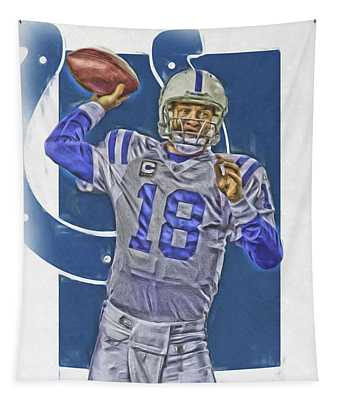 Peyton Manning Indianapolis Colts Oil Art Tapestry