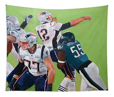 Philadelphia Eagles Strip-sack Of Tom Brady In Super Bowl Lii  Tapestry