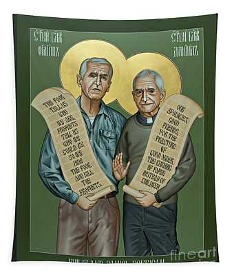 Philip And Daniel Berrigan Tapestry
