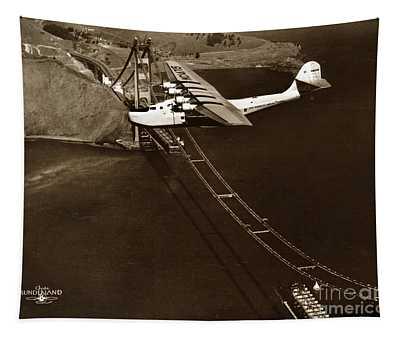 Philippine Clipper A Pan Am Clipper Over The Golden Gate Bridge  1935 Tapestry
