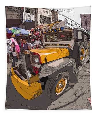 Philippines 1261 Jeepney Tapestry