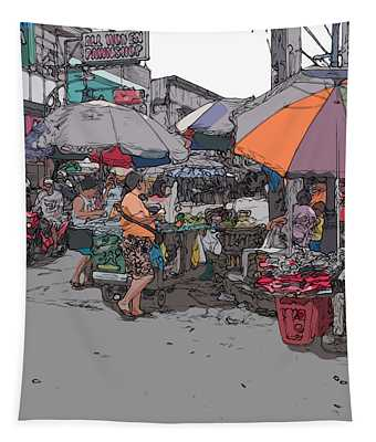Philippines 708 Market Tapestry