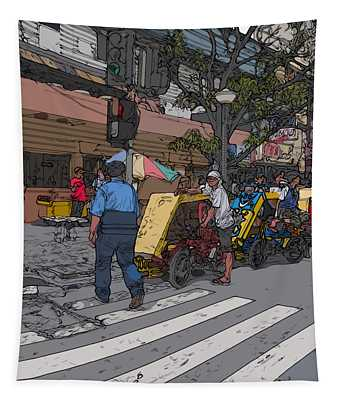 Philippines 906 Crosswalk Tapestry