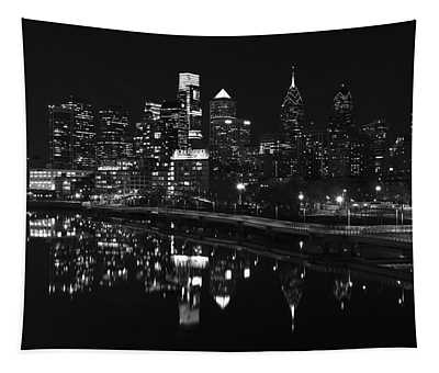 Philly And The Schuylkill Bw Tapestry