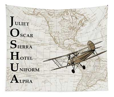 Phonetic Alphabet Custom Name Tapestry by Delphimages Photo Creations
