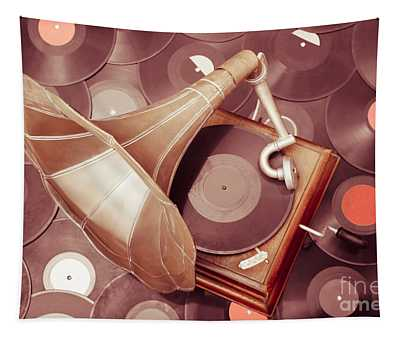 Phonograph Music Player Tapestry