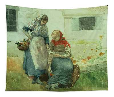 Picking Flowers Tapestry