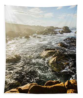 Picturesque Australian Beach Landscape Tapestry