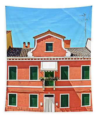 Picturesque House In Burano Tapestry