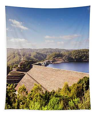 Picturesque Hydroelectric Dam Tapestry