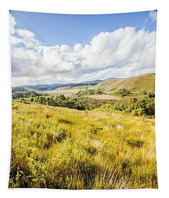 Picturesque Tasmanian Field Landscape Tapestry