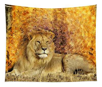 Pieces Of A Lion Tapestry