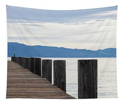 Pier On The Lake Tapestry