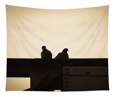 Pigeon And Steel Tapestry