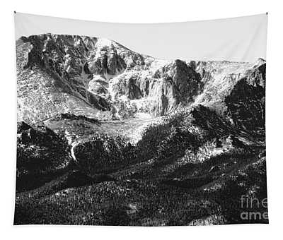Pikes Peak Black And White In Wintertime Tapestry