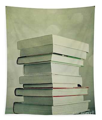 Piled Reading Matter Tapestry