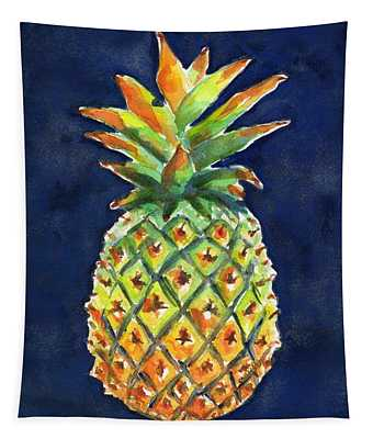 Pineapple Ripe Watercolor Tapestry