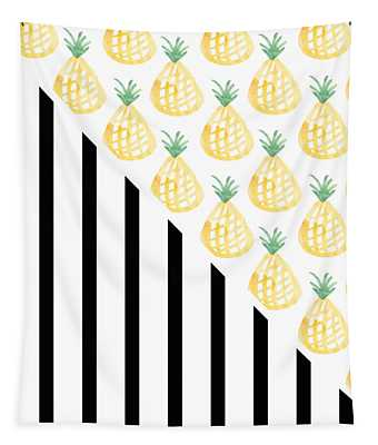 Pineapples And Stripes Tapestry