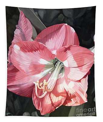 Pink Amaryllis Tapestry