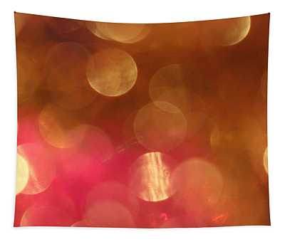 Pink And Gold Shimmer- Abstract Photography Tapestry