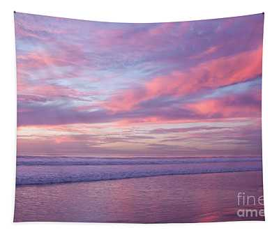 Pink And Lavender Sunset Tapestry