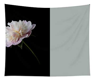 Pink And White Peony Tapestry