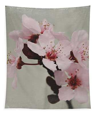 Pink Blossoms 1- Art By Linda Woods Tapestry