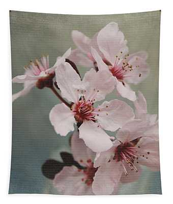 Pink Blossoms 2- Art By Linda Woods Tapestry