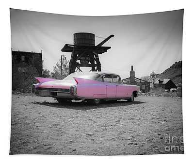 Pink Caddy In The Desert Tapestry