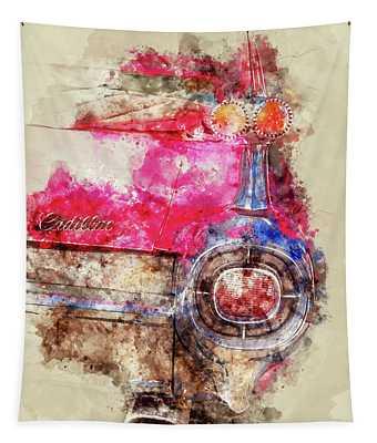 Pink Cadillac - Back Tapestry
