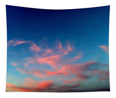 Tapestry featuring the digital art Pink Clouds Abstract by Shelli Fitzpatrick