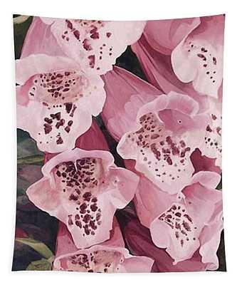 Pink Foxglove Tapestry