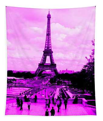 Pink Paris Tapestry