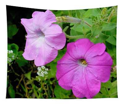 Pink Petunia Flower 3 Tapestry