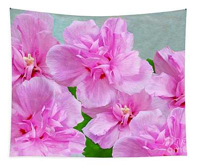 Pink Rose Of Sharon Tapestry
