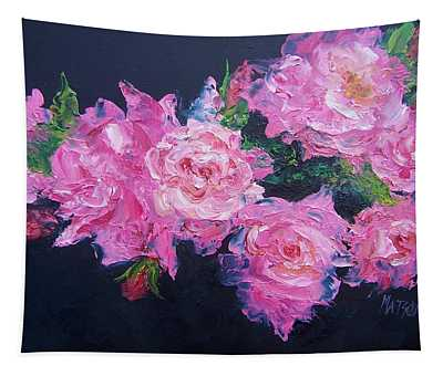Pink Roses Oil Painting Tapestry