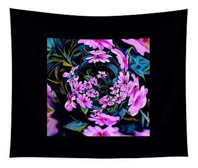 Pink Vortex Tapestry