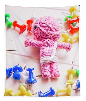 Pins And Needles Mummy Voodoo Doll Tapestry