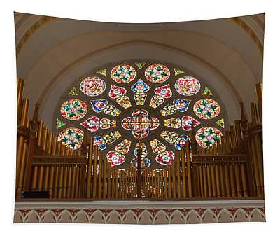Tapestry featuring the photograph Pipe Organ - Church by Kim Hojnacki