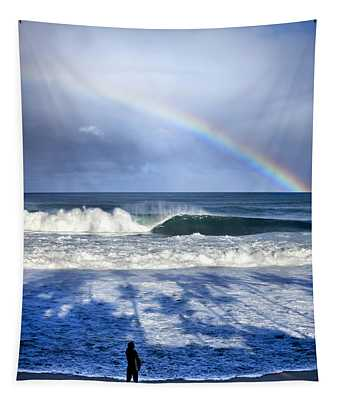 Pipe Rainbow Palms Tapestry