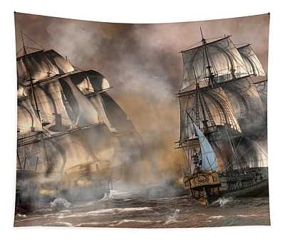 Pirate Battle Tapestry