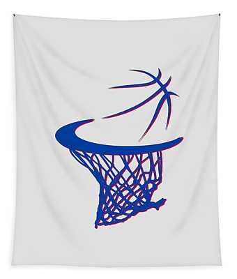 Pistons Basketball Hoop Tapestry