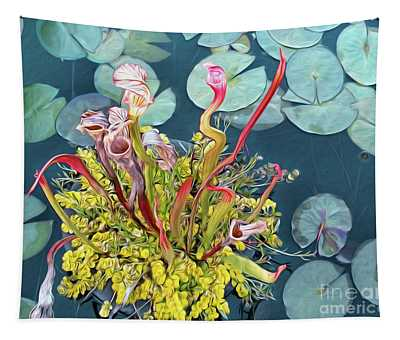 Pitcher Plants And Lily Pads By Kaye Menner Tapestry